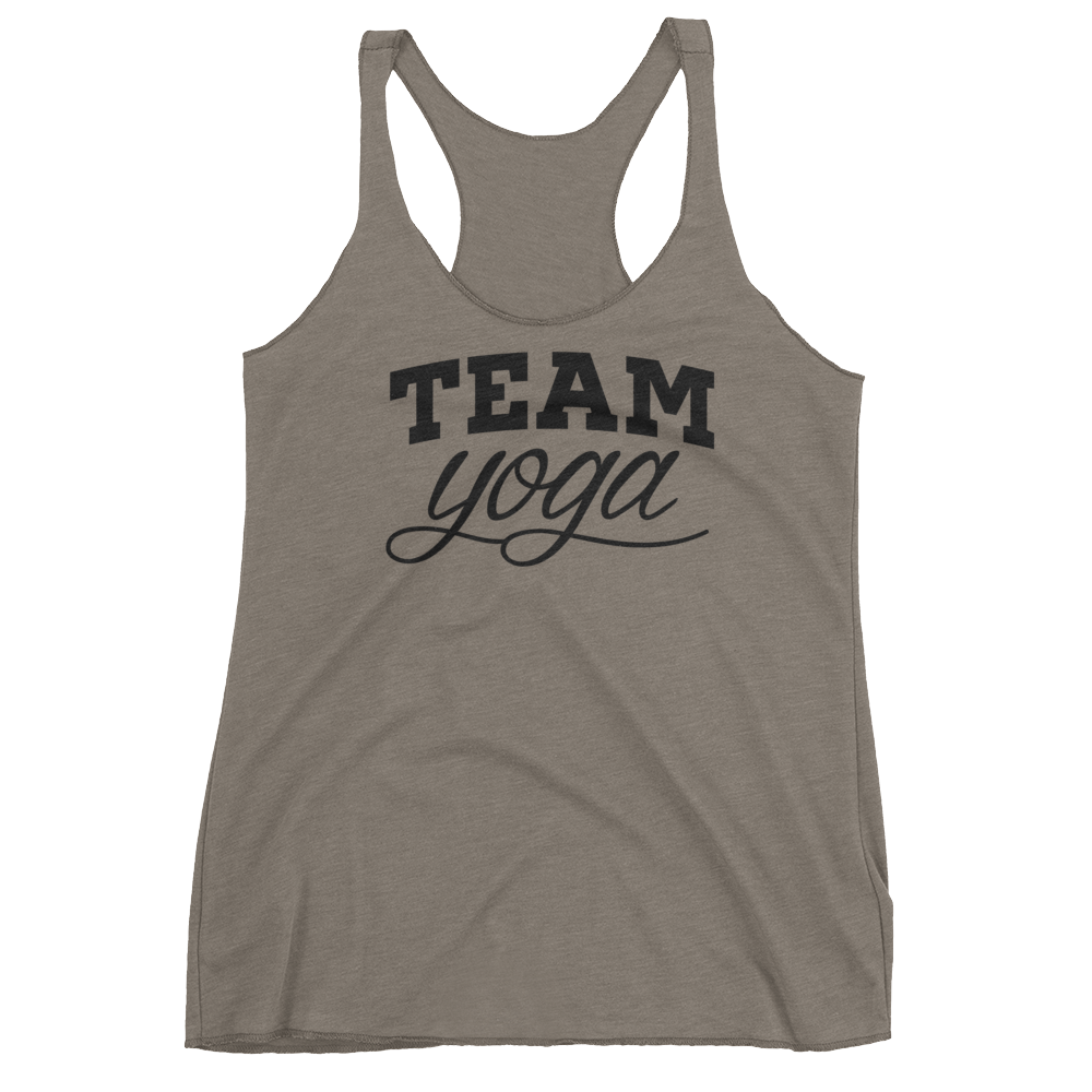 Vegan Yoga Tank Top - Team Yoga - Venetian Grey
