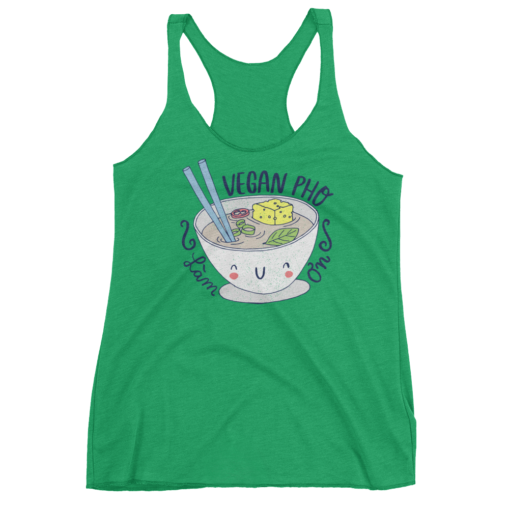Vegan Tank Top - Vegan Pho - Envy (Green)