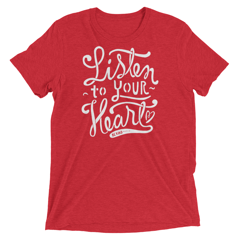 Vegan T-Shirt - Listen to your Heart - Red