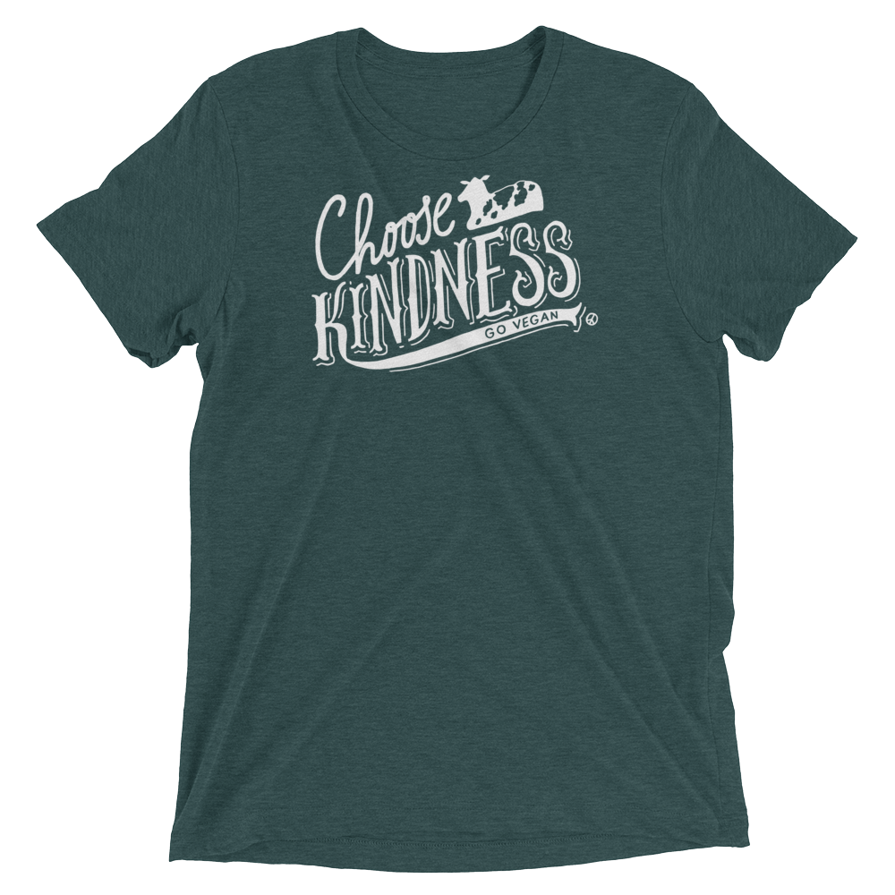 Vegan T-Shirt - Choose Kindness Shirt - Emerald