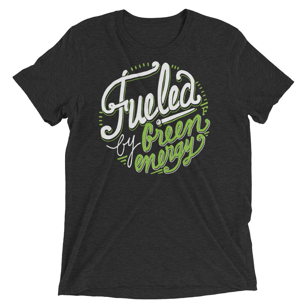 Vegan T-Shirt - Fueled by green energy - Emerald