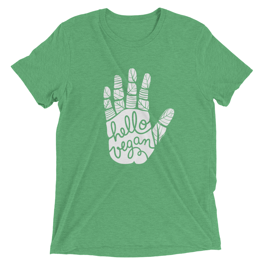 Vegan T-Shirt - Hello Vegan - Green