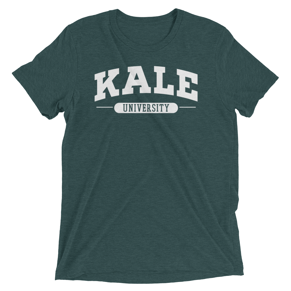 Vegan T-Shirt - Kale University Shirt - Emerald