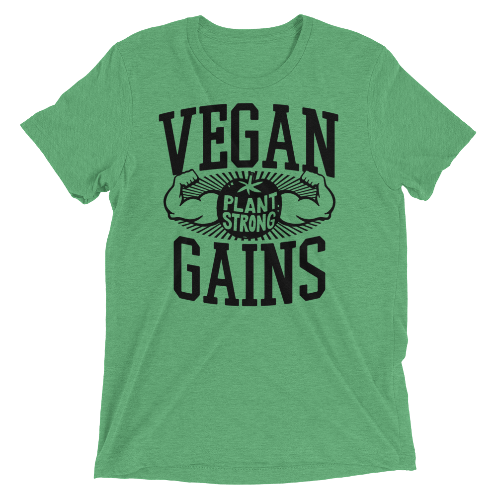 Vegan T-Shirt - Vegan gains shirt - Green