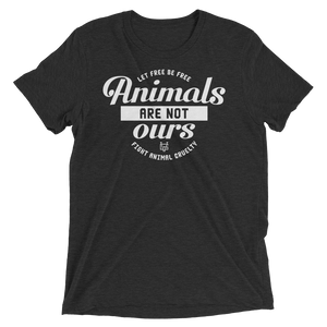 Vegan Shirt - Animals are not ours - Charcoal Black
