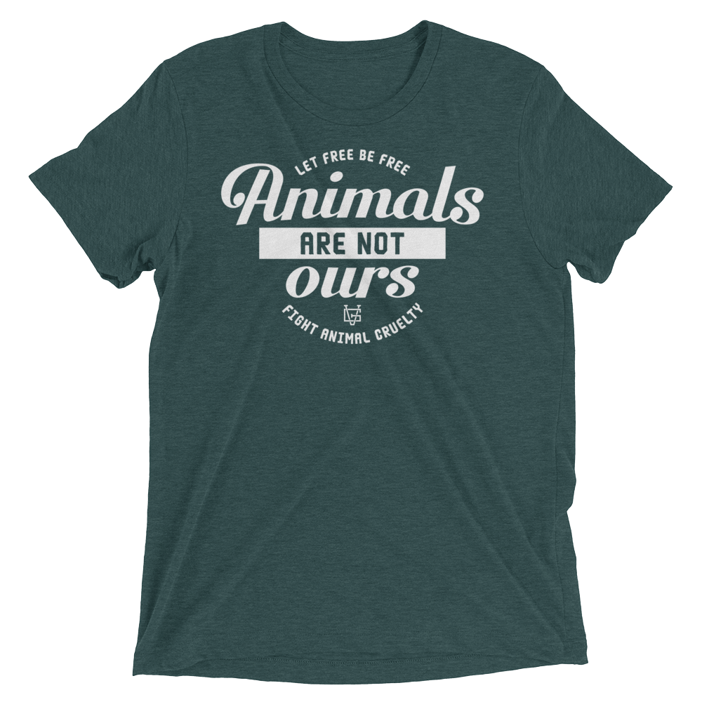 Vegan T-Shirt - Animals are not ours - Emerald