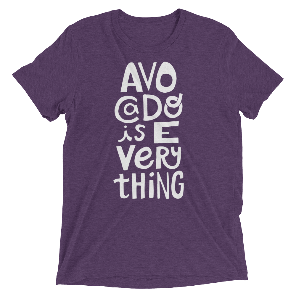 Vegan T-Shirt - Avocado is everything - Purple