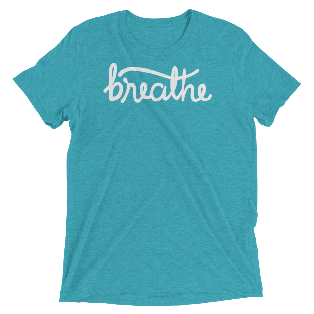 Vegan Yoga Shirt - Breathe - Teal