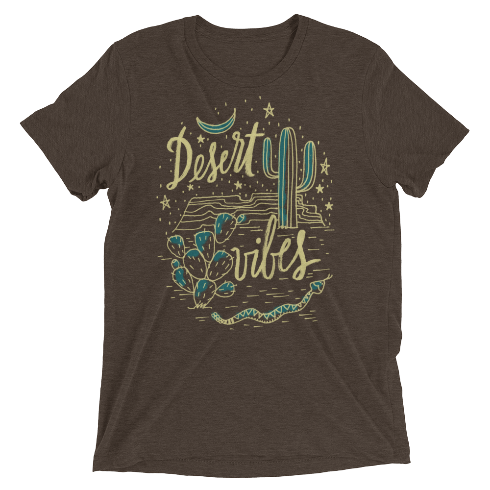Vegan T-Shirt - Desert Vibes - Brown