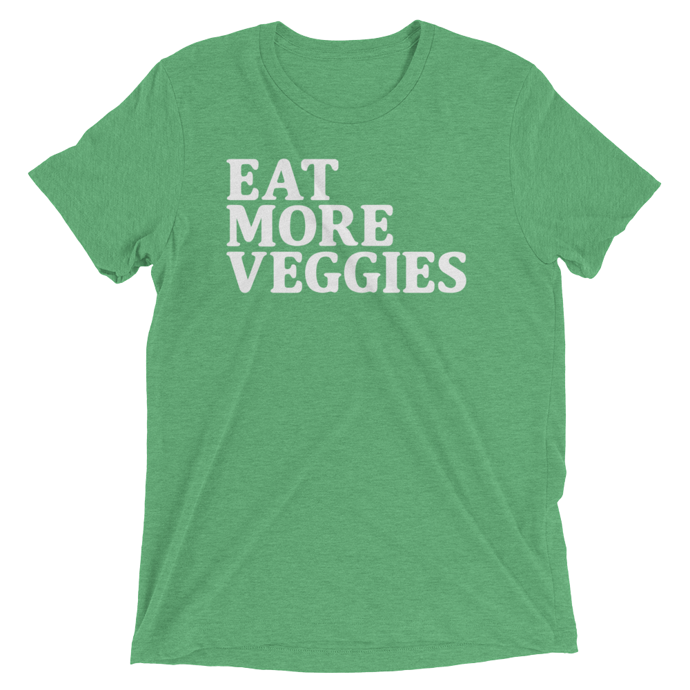 Vegan T-Shirt - Eat more veggies - Green