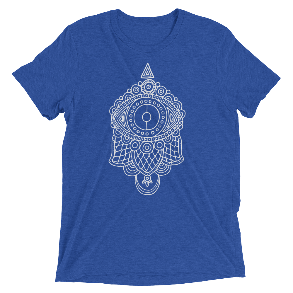 Vegan Yoga Shirt - Evil Eye Hamsa - True Royal