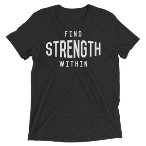 Vegan Yoga Shirt - Find Strength Within - Charcoal Black