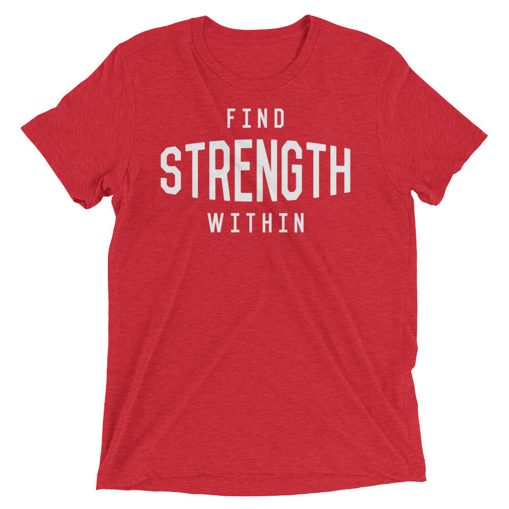 Vegan Yoga Shirt - Find Strength Within - Red