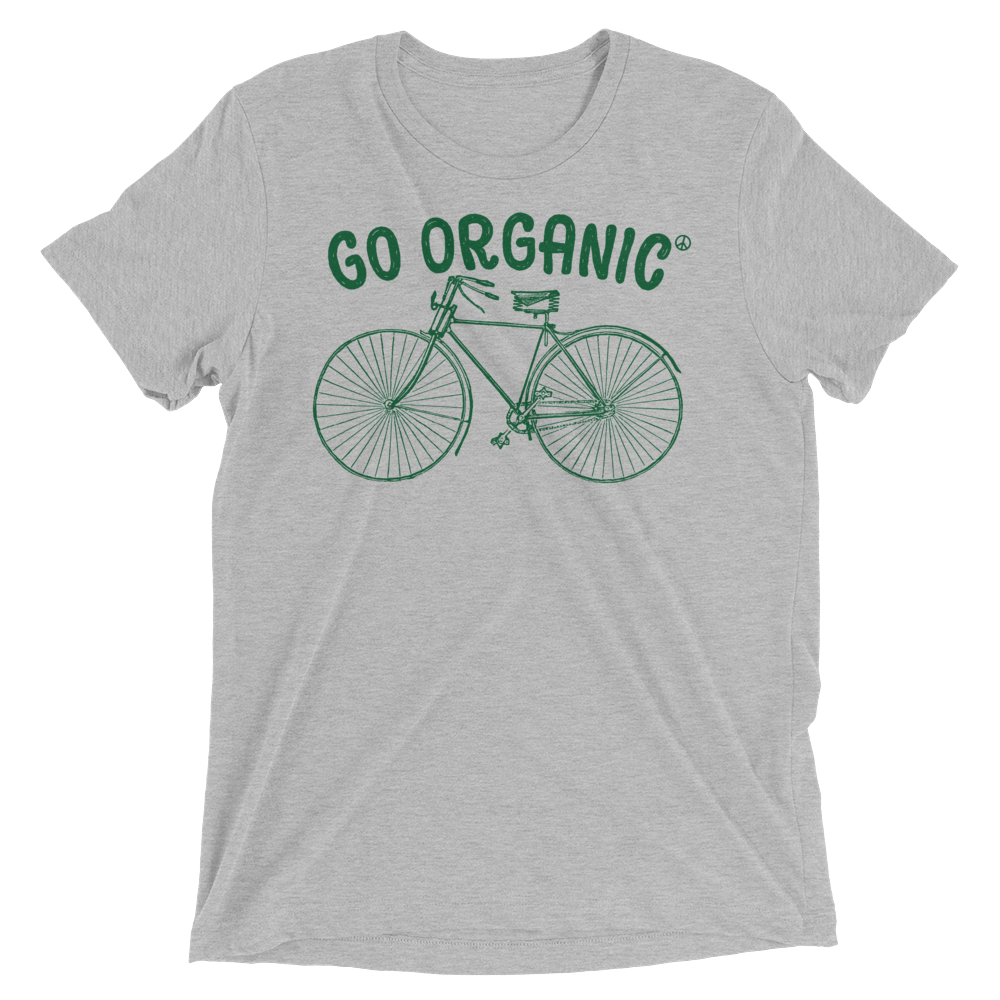 Vegan T-Shirt - Go Organic - Athletic Grey