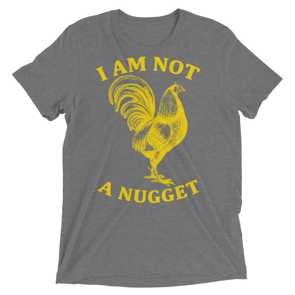 Vegan T-Shirt - I am not a nugget - Grey