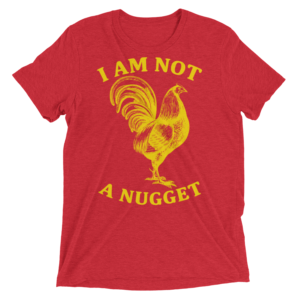 Vegan T-Shirt - I am not a nugget - Red