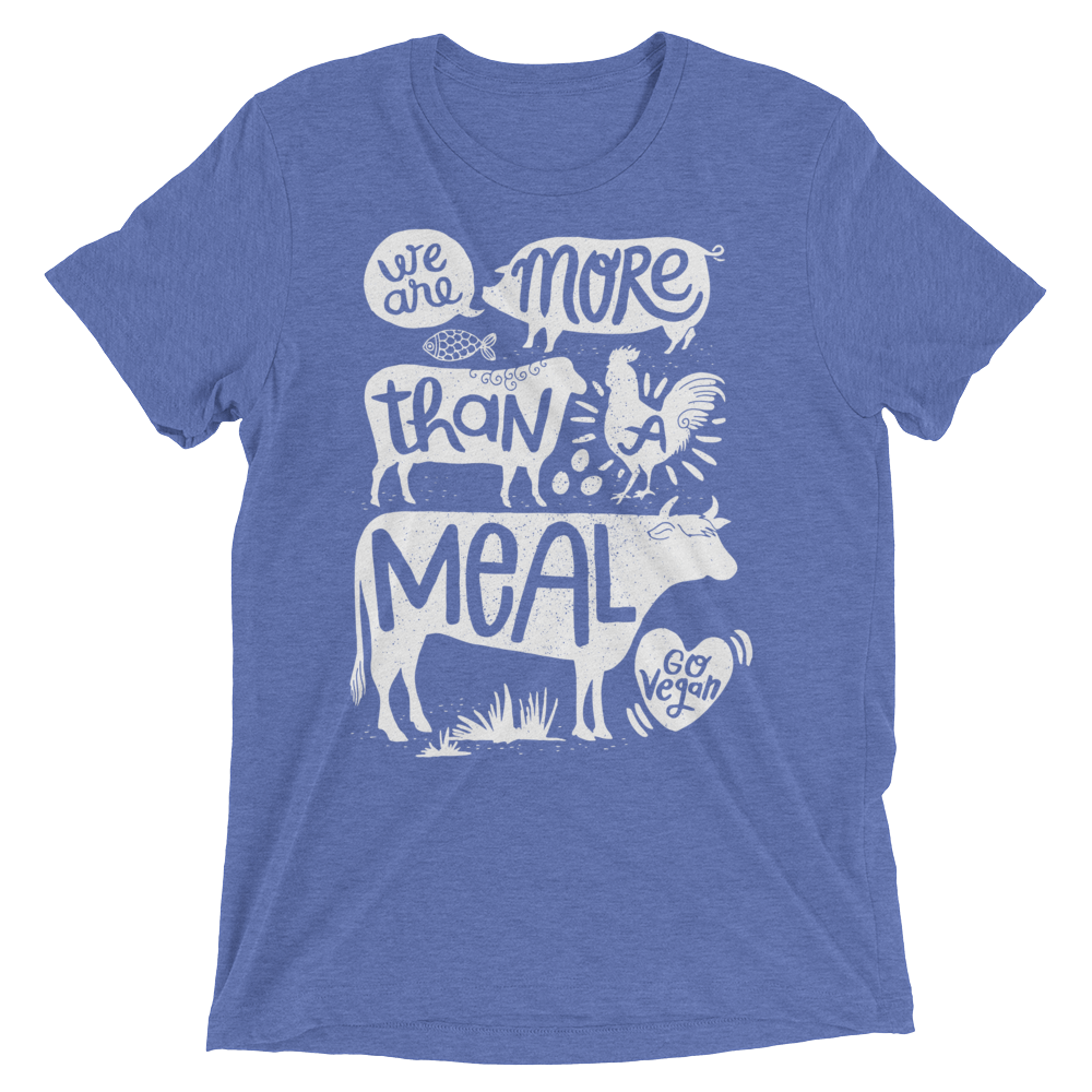 Vegan T-Shirt - More Than A Meal - Blue