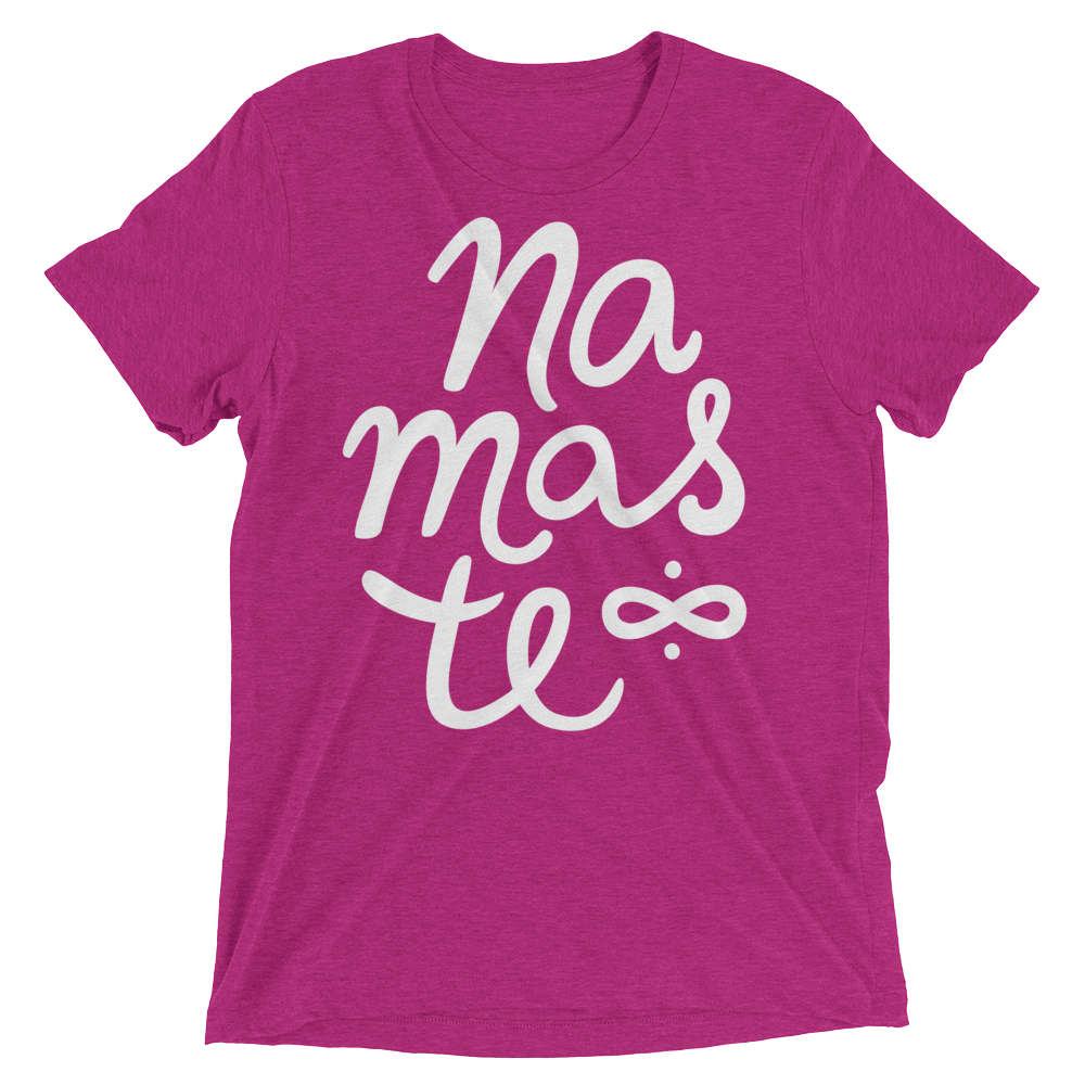 Vegan Yoga Shirt - Namaste - Berry