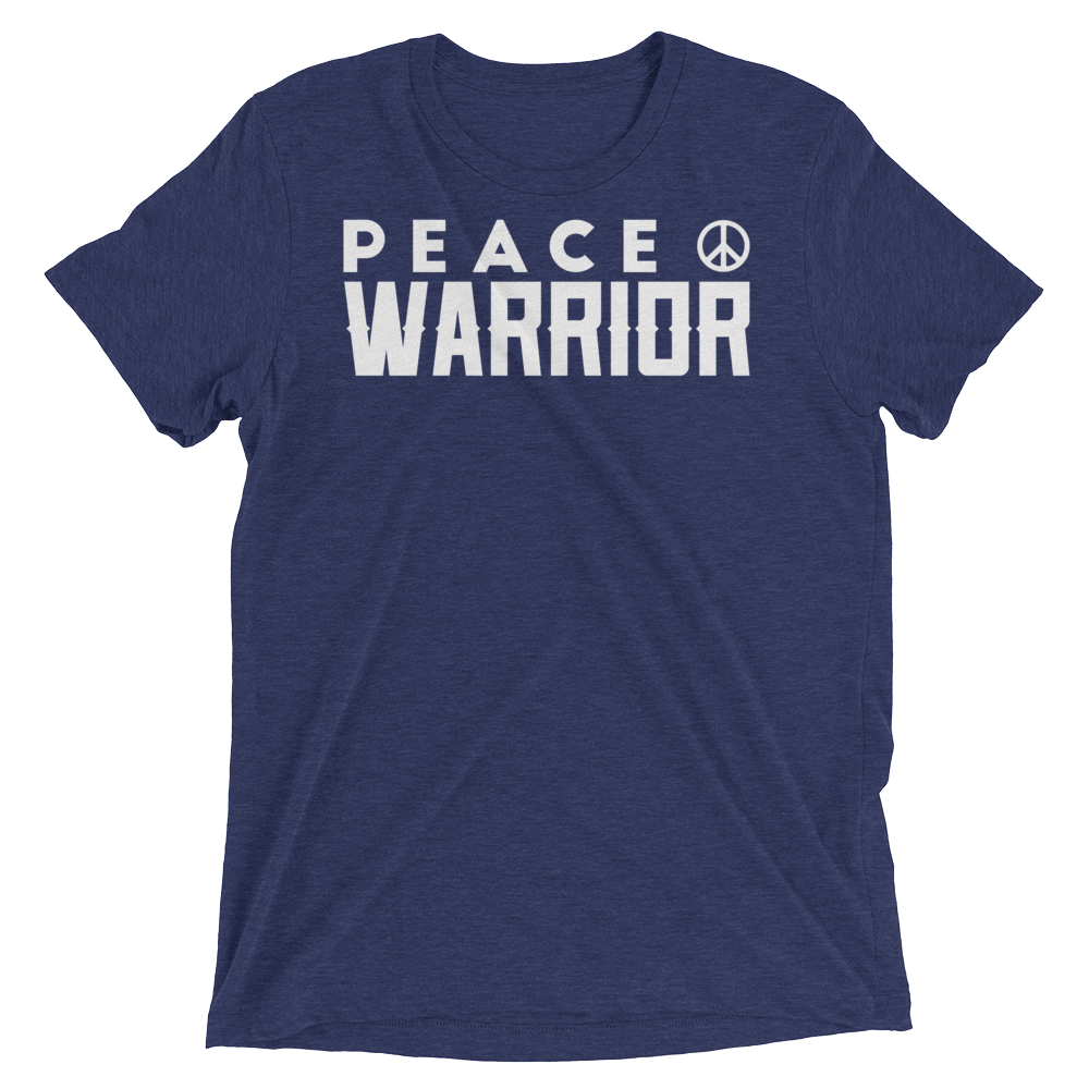 Vegan Yoga Shirt - Peace Warrior - Navy