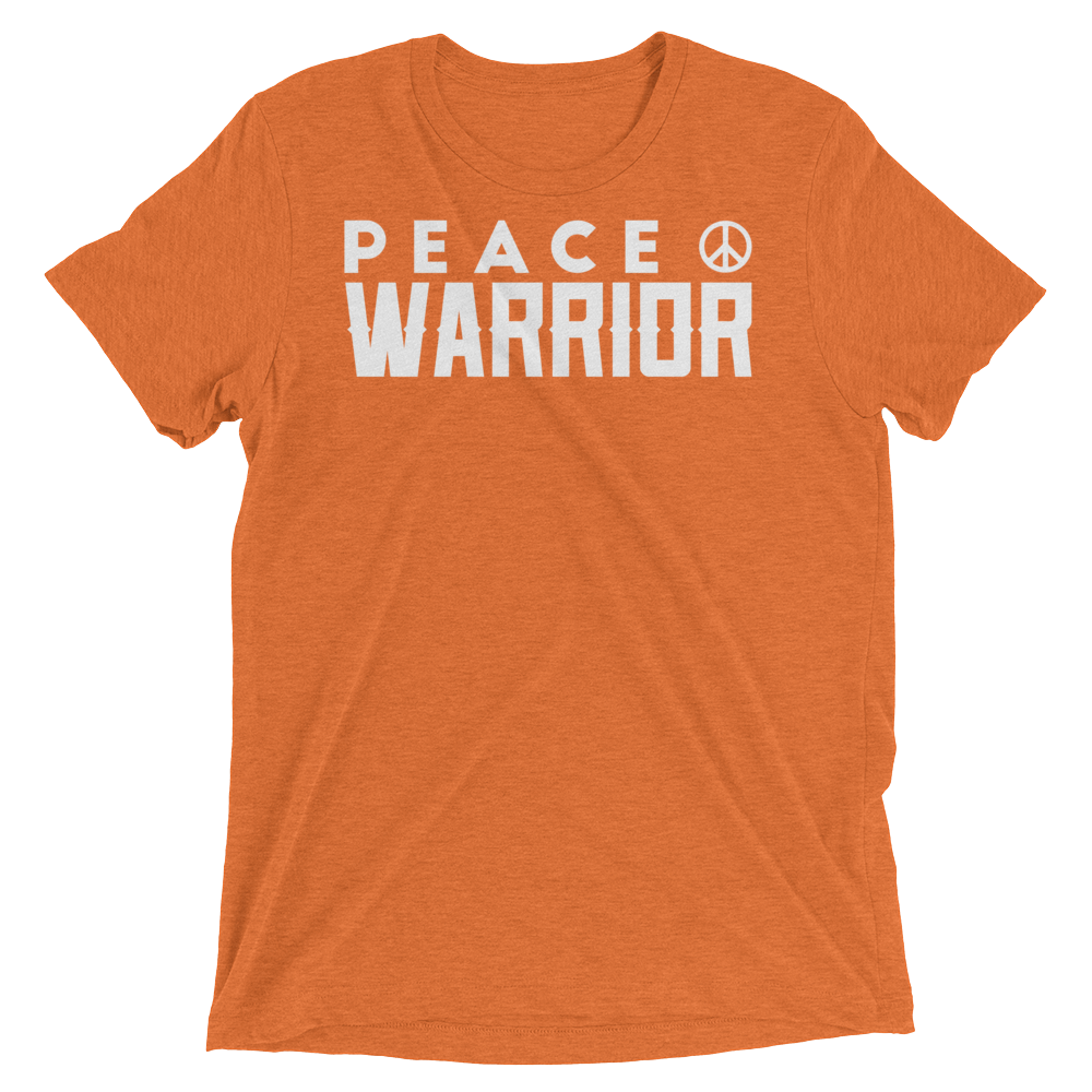 Vegan Yoga Shirt - Peace Warrior - Orange