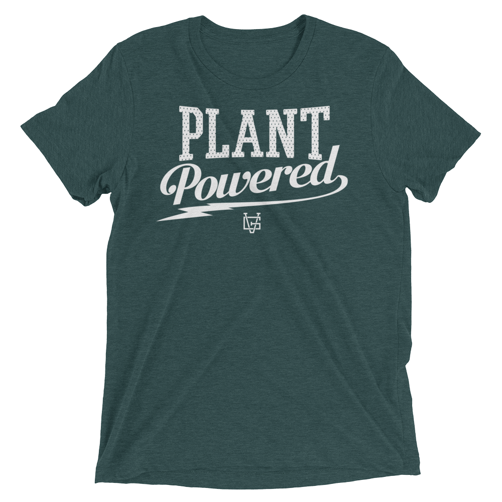 Vegan T-Shirt - Plant Powered Thunder - Emerald