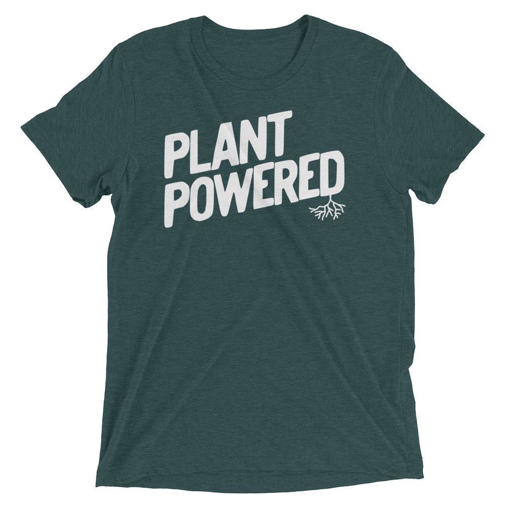 Vegan T-Shirt - Plant Powered Shirt - Emerald