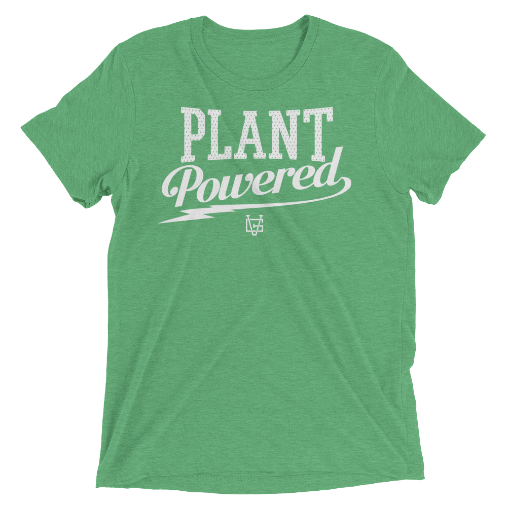 Vegan T-Shirt - Plant Powered Thunder - Green