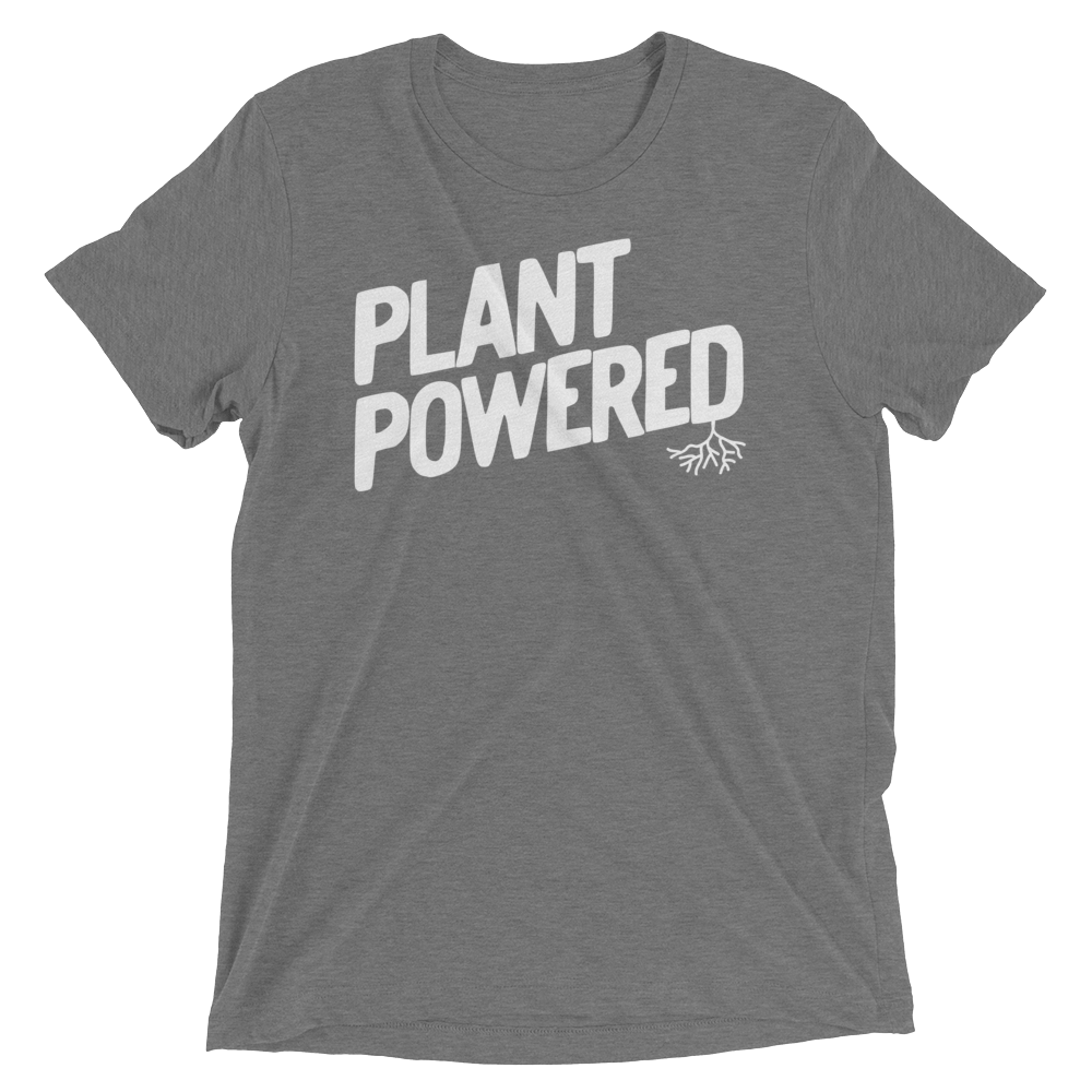 Vegan T-Shirt - Plant Powered Shirt - Grey