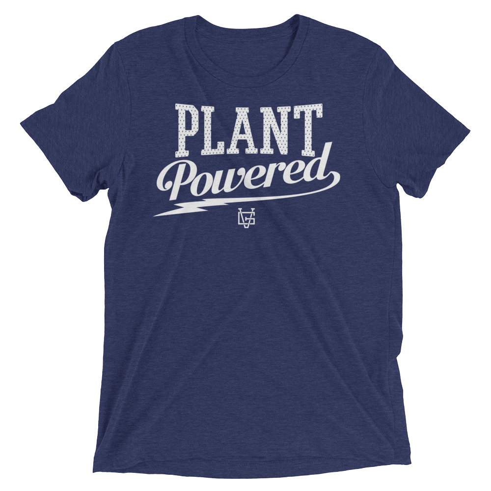 Vegan T-Shirt - Plant Powered Thunder - Navy