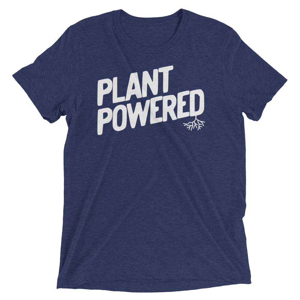 Vegan T-Shirt - Plant Powered Shirt - Navy