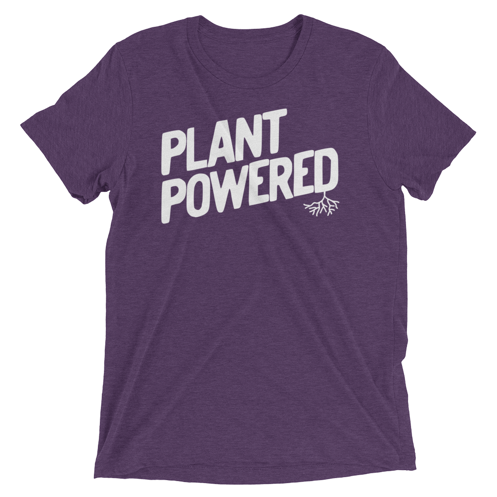 Vegan T-Shirt - Plant Powered Shirt - Purple