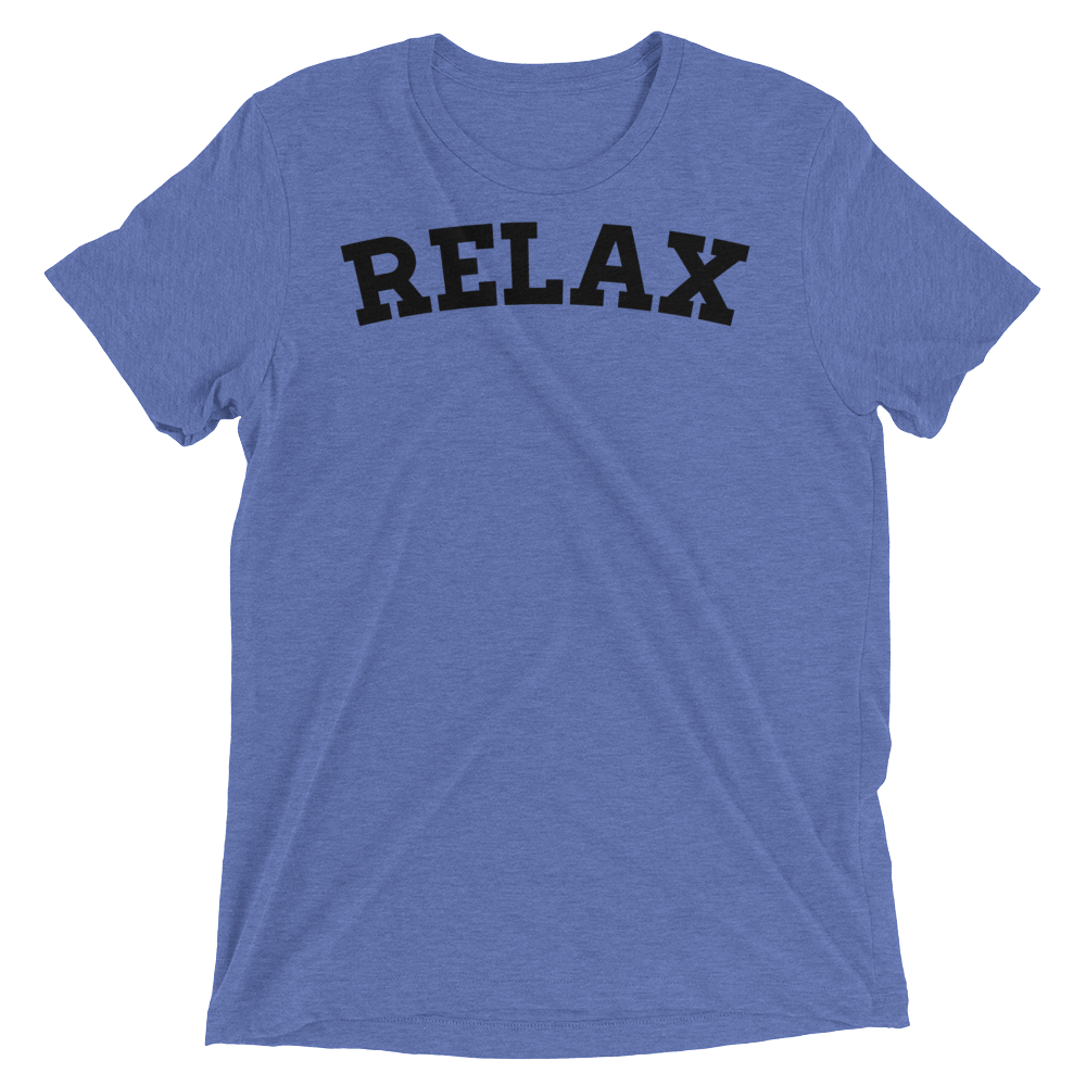 Vegan Yoga Shirt - Relax - Blue