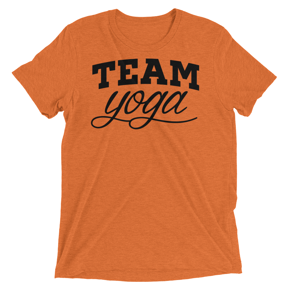 Vegan Yoga Shirt - Team Yoga - Orange