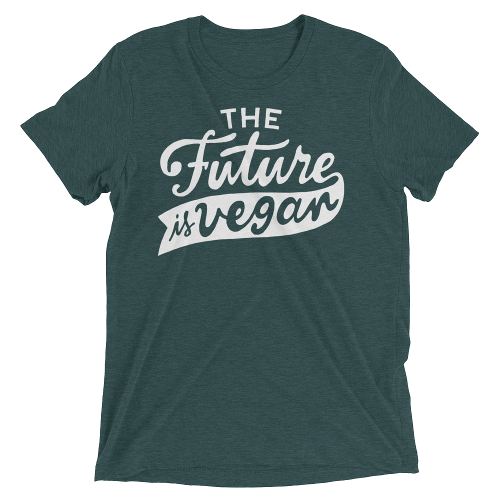 Vegan T-Shirt - The future is vegan shirt - Emerald