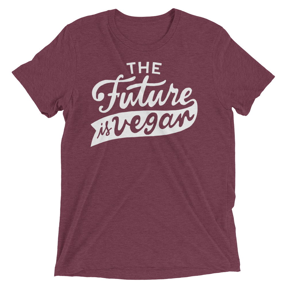 Vegan T-Shirt - The future is vegan shirt - Maroon