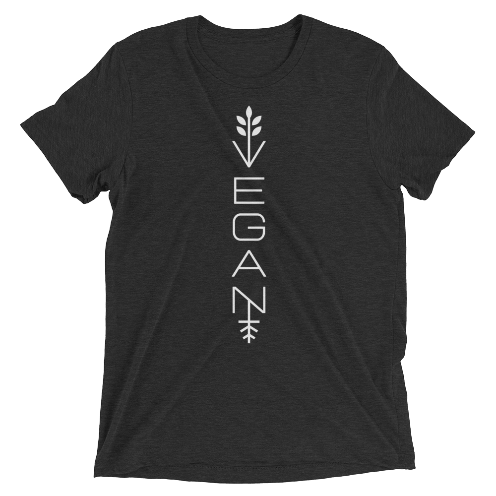 Vegan T-Shirt - Modern vegan - Charcoal Black
