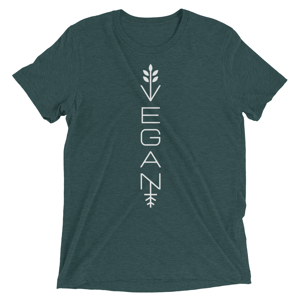 Vegan T-Shirt- Modern vegan - Emerald