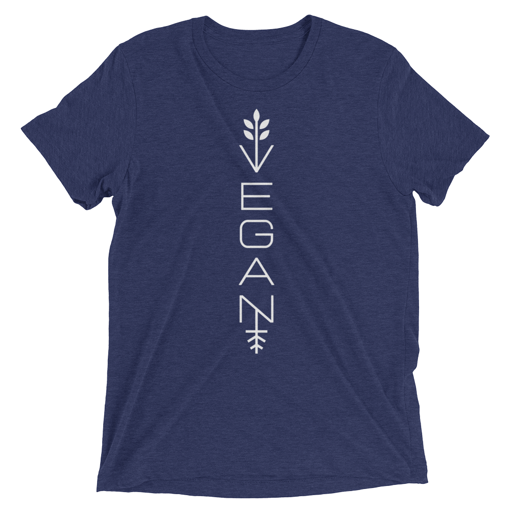 Vegan T-Shirt - Modern vegan - Navy
