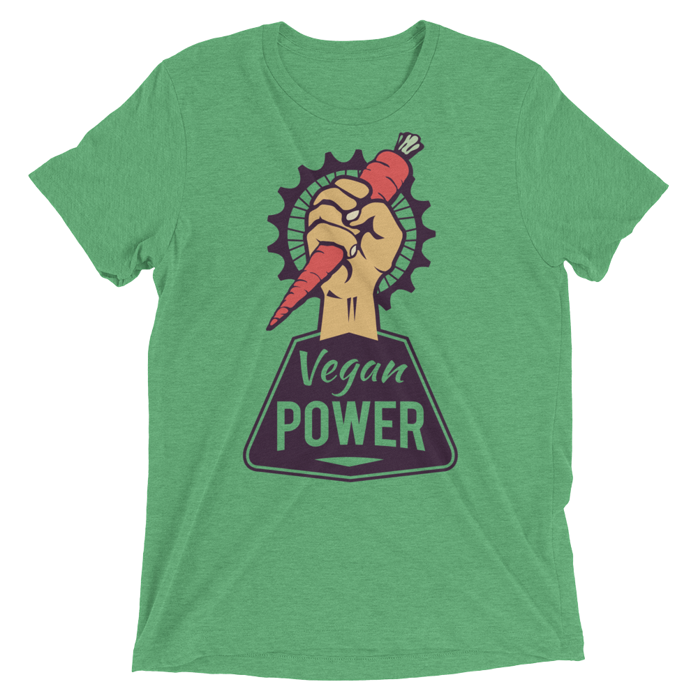 Vegan T-Shirt - Vegan Power - Green