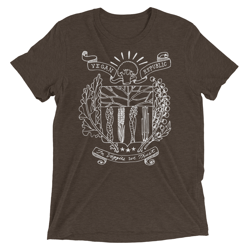 Vegan T-Shirt - Vegan Republic - Brown