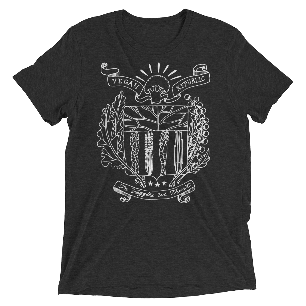 Vegan T-Shirt - Vegan Republic - Charcoal Black