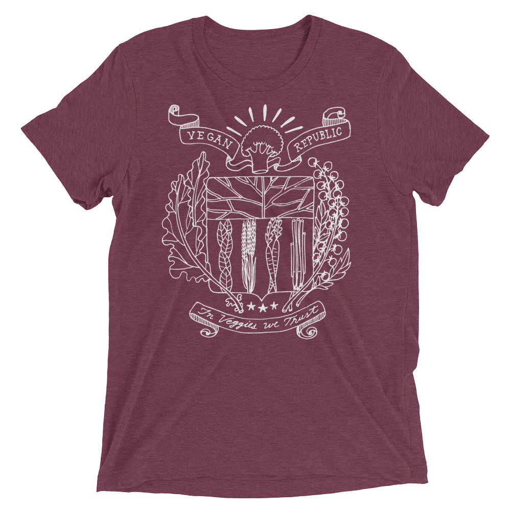 Vegan T-Shirt - Vegan Republic - Maroon