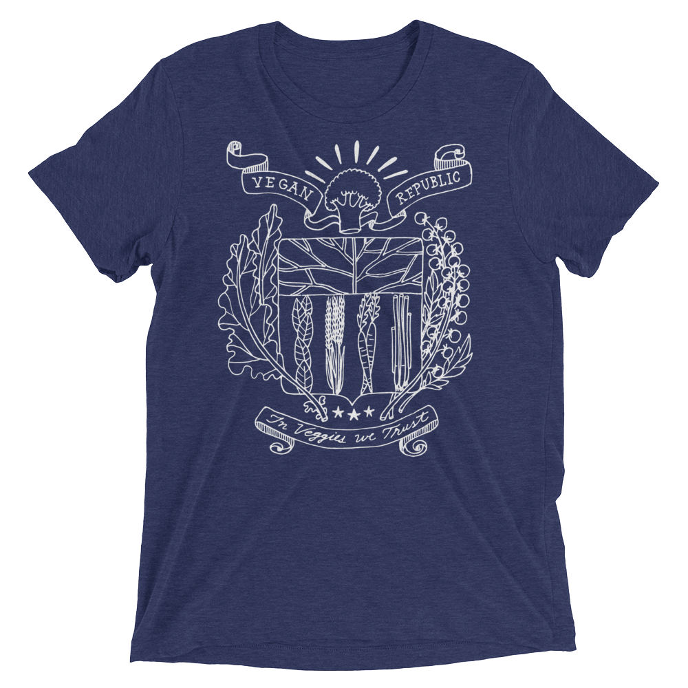 Vegan T-Shirt - Vegan Republic - Navy
