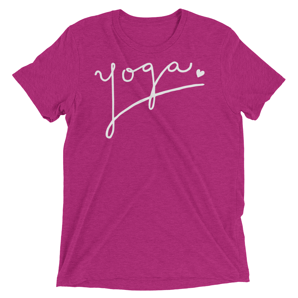 Vegan Yoga Shirt - Yoga Love - Berry