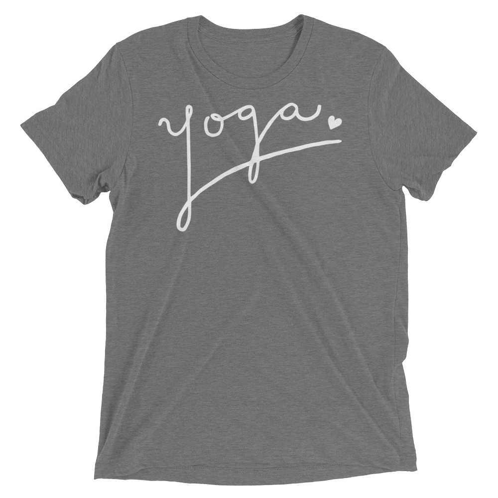 Vegan Yoga Shirt - Yoga Love - Grey