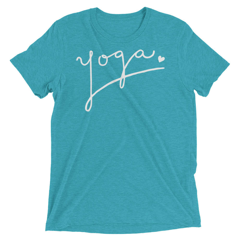 Vegan Yoga Shirt - Yoga Love - Teal
