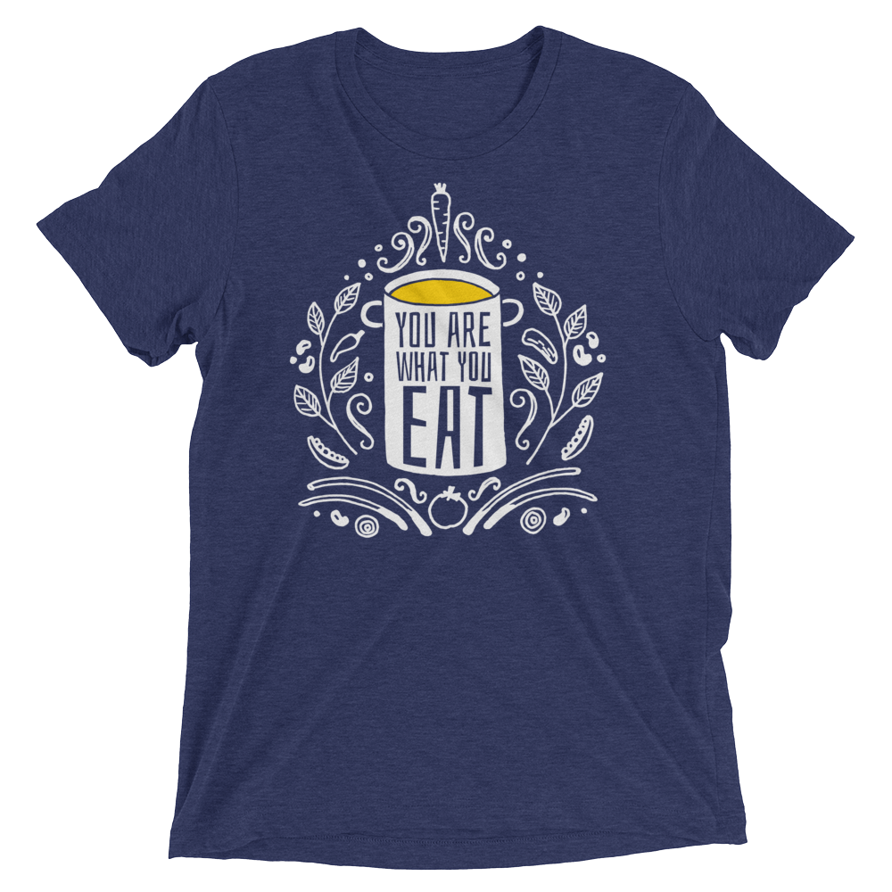 Vegan T-Shirt - You Are What You Eat - Navy