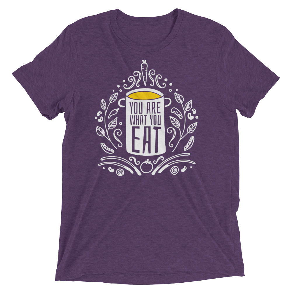 Vegan T-Shirt - You Are What You Eat - Purple