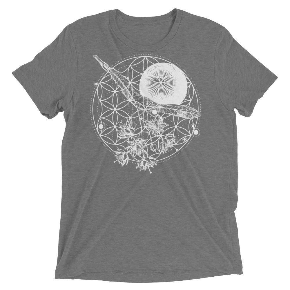 Sacred Geometry Shirt - Flower Of Life - Grey