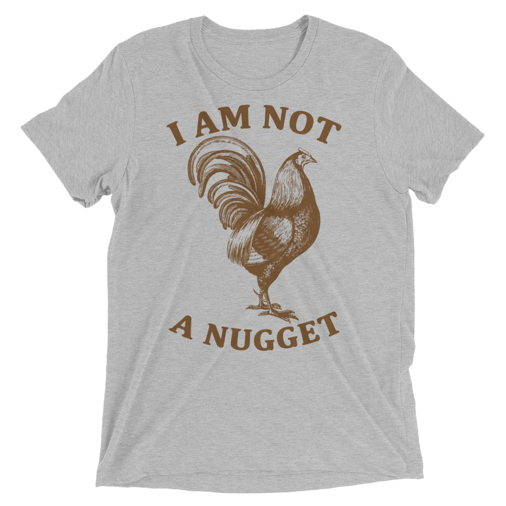 Vegan T-Shirt - I am not a nugget - Athletic Grey